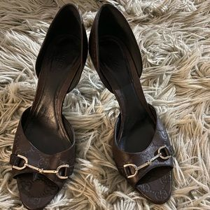 Brown Gucci Heels